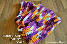 Sugar And Cream Yarn Patterns Gorgeous Easy Crochet Scarf Ribbed Stair Pattern Free Crochet Pattern