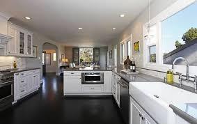 white cabinets dark floors. Exellent Floors White Kitchen Cabinets With Dark Floors And  In L