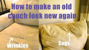 how to make an old couch new again for 10 living rich on intended restuff sofa cushions plans 16