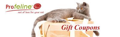 gift coupons profeline cat supplies