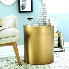 gold drum table gold drum coffee table gold drum side table stunning cool accent tables metal