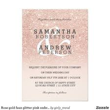 9 best wedding invitation ideas images on pinterest invitation Zazzle Bling Wedding Invitations rose gold faux glitter pink ombre wedding custom card Elegant Wedding Invitations