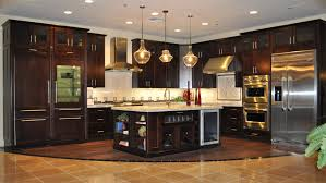 Beautiful Kitchen Tile Flooring Dark Cabinets On The Other Hand Provide Richness And Design Inspiration
