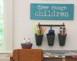 FREE RANGE CHILDREN, playroom decor, playroom art, rustic kids room wall  art,