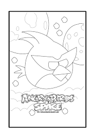 Angry Birds Space Red Bird Coloring