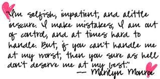 Short Beauty Quotes For Girls Best of Marilyn Monroe Quotes Tumblr And Sayings A Wise Girl About Life
