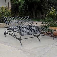 black wrought iron outdoor furniture. Shop International Caravan Antique Black Wrought Iron Patio Chaise Inside 2018 Outdoor Lounge Furniture L