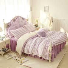 purple pink blue white stripe girls bed set thick fleece winter warm concept of winter bedding sets