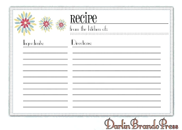 Full Page Recipe Templates Full Page Recipe Template Editable Awesome Downloadable