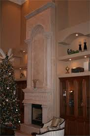 traditional mantel from carved stone creations
