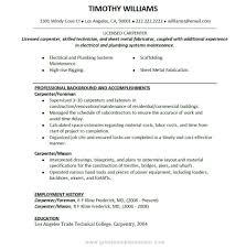 Construction Worker Resume Samples Construction Worker Resume Example Elegant Union Carpenter Resume 60