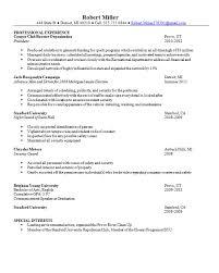 College President Resume