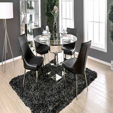 gray kitchen table and chairs best of 5pc izzy round gl table set furniture od
