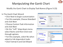 Gantt Chart Wizard Microsoft Project Tutorial For Chapters 4 5 This Tutorial