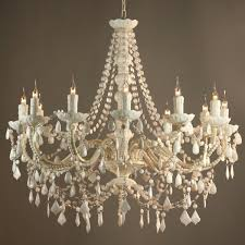 vintage chandelier fifi french vintage style white 12 arm acrylic chandelier