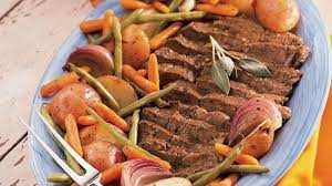 beef pot roast with vegetables and