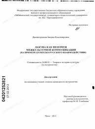 Диссертация на тему Лакуна как феномен межкультурной коммуникации  Диссертация и автореферат на тему Лакуна как феномен межкультурной коммуникации научная