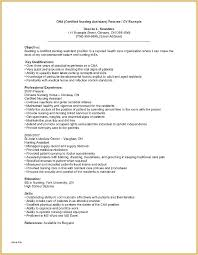 Cna Resume Template Gorgeous Cna Resume Sample With No Work Experience Of Good Example Cover