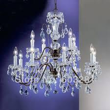 12 light crystal chandelier appealing beautiful bronze