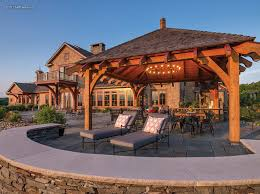 What is a pavilion Gazebo Photo By Scott The Pavilion Just Outside The Kitchen Is An Irresistible Draw For Gatherings For This Family Home Bend Parks And Recreation District Timber Frame Pergolas Pavilions New Energy Works