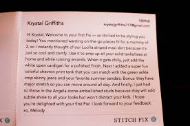 Stitch Fix Notes Stitch Fix 1 She Is Fierce