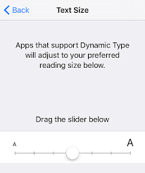 change text size outlook support