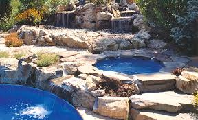 inground pools with hot tubs. Wonderful Inground Inground Swimming Pools Hot Tubs Saunas Above Ground Miller  Place On Pools With Tubs S