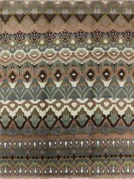 new modern collection persian ikat 9 x12 hand knotted earth tone wool rug h3616