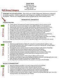Sample Resume Skills Musiccityspiritsandcocktail Com