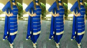 Plain Punjabi Suit With Lace Design Plain Suit With Lace Designs Suit With Lace Designs Punjabi Suit With Laces