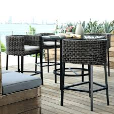 tall outdoor chairs garden table portable bar sets furniture patio tables i57