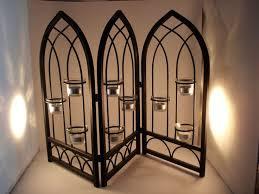 fireplace candelabra candle holder wrought iron tea light or votive
