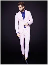 Light Pink Jacket Men Latest Coat Pant Designs Light Pink Custom Casual Beach