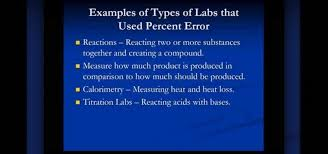 How to Calculate percent error in chemistry lab activities Â« Math ...