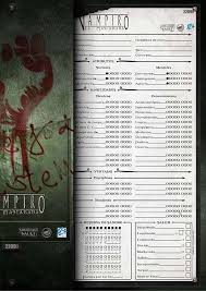 Vtm Character Sheets 3rd Edition White Wolf Storytellers Vault