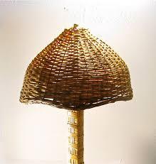 vintage wicker table lamp