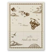 hawaii wedding invitations. destination wedding invitations: hawaii treasure map ecru zfold inv invitations