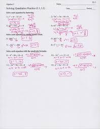 algebra review solving quadratics answers digitalamenity com