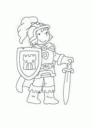 Kleurplaat Ridder Kleuters Thema Ridders En Prinsessen