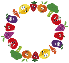 Anthropomorphic Fruits And Vegetables Frame Large - Openclipart