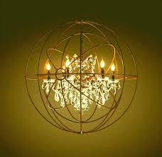 halo chandelier restoration hardware knock off inch orb camino crystal ha
