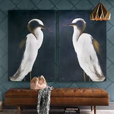 big art is a huge trend and our white heron artwork captures one of the larger more majestic birds of north america the white heron  on white heron wall art with white heron wall art pinterest entry hall room and walls