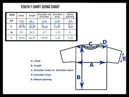 Gildan T Shirts Size Chart For Youth Blank T Shirts Size Charts