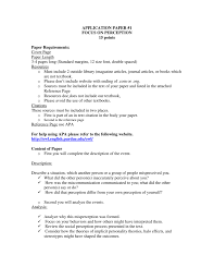 Perception Research Paper Instruction