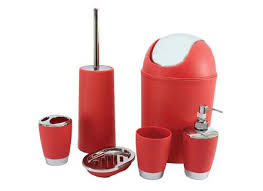 Red And Black Bathroom Sets Red Bathroom Accessories Sets For Avaz