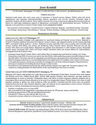 Credit Analyst Resumes Resume Cover Letter Template
