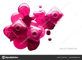 Hřebík Umění Koncept Různé Odstíny Metalické Růžové Nehty Stock