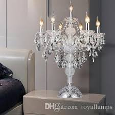 kitchen large led candlestick crystal candle holder table lamp for dining room table light wedding candelabra glass desk lamp table light candle holder