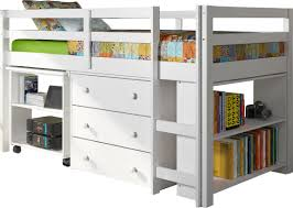 Zechariah Twin Low Loft Bed with Storage