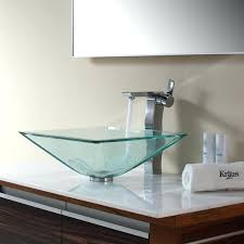 kohler antilia glass sink bathroom stunning design of vessel sinks for cozy square parts vessels console